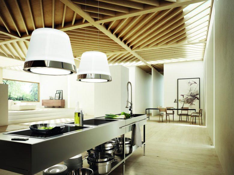 modern kitchen appliances,white exhaust hood design,modern gray kitchen cabinets,glass ceramic kitchen cooker,designer dining table,