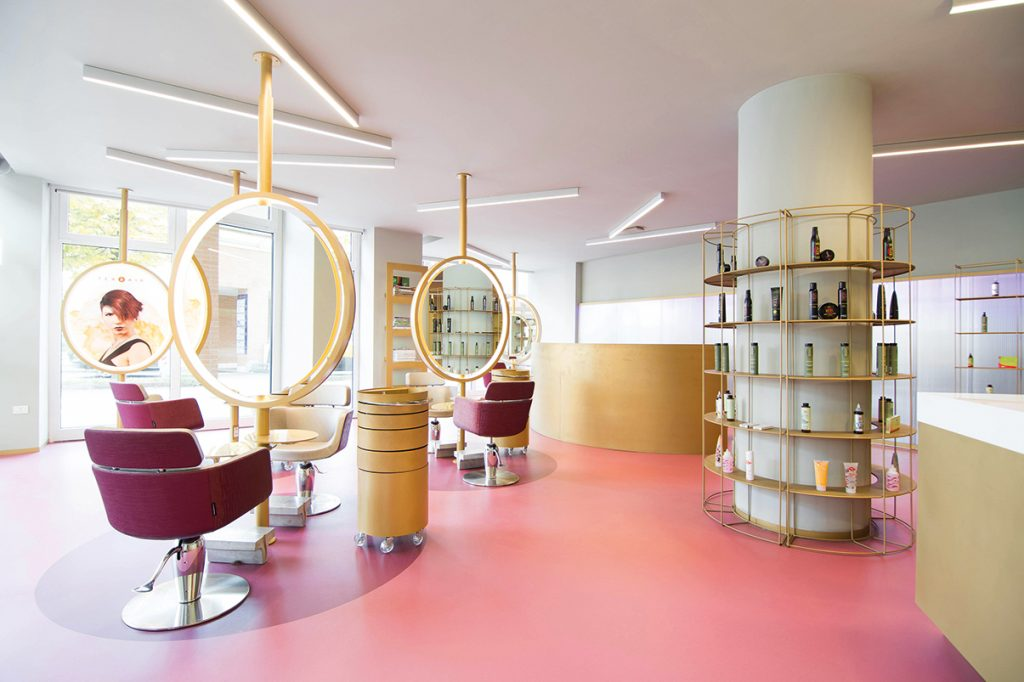 Hair Salon Decoration Texhair Hairdresser Chain In North Italy Archi Living Com