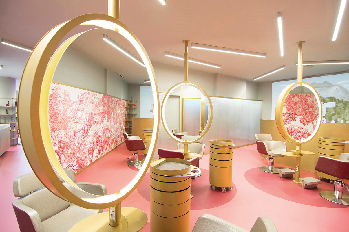 Hair Salon Design - Texhair, Hairdresser Chain in Italy  Archi