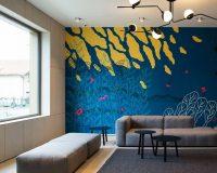 Croatian artists,wall mural by croatian artists,artistic apartment decorating,artistic apartment decorating ideas,wall painting ideas,