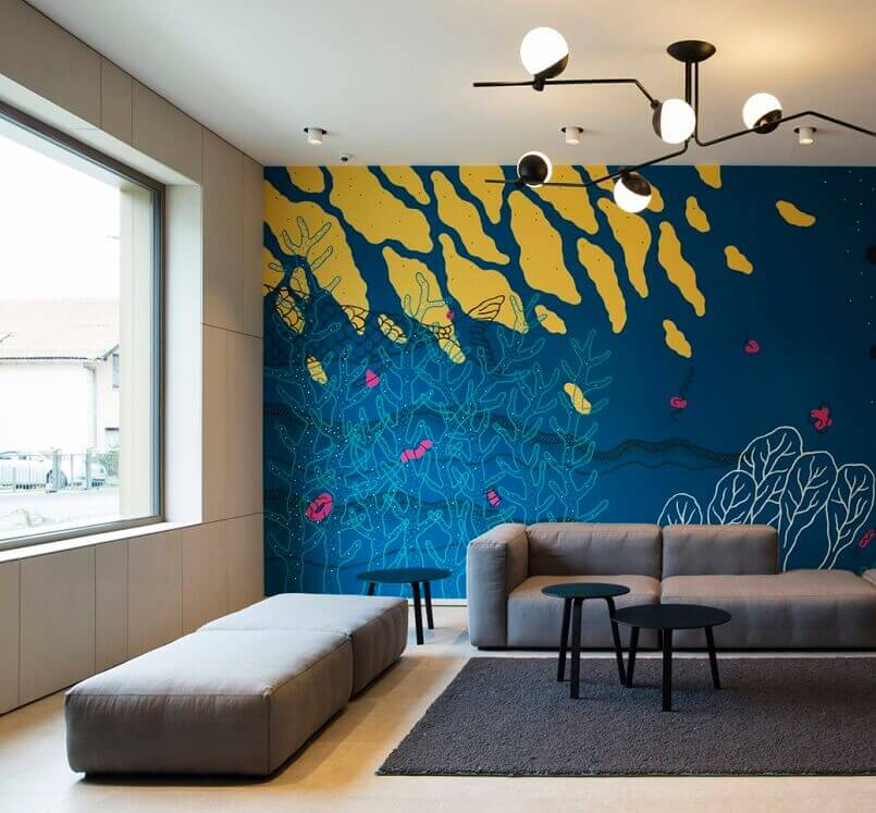 wall mural by croatian artists,design ideas for an apartment,artistic apartment decorating,creative wall painting ideas for living room,wall decoration ideas,