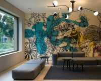 creative wall painting ideas for living room,wall decoration ideas,wall painting ideas for home,Croatian artists,wall mural by croatian artists,