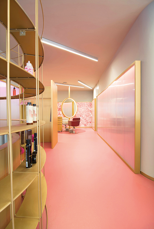 Hair Salon Decoration Design, concept of hair salons, Texhair, hairdresser chain, North Italy