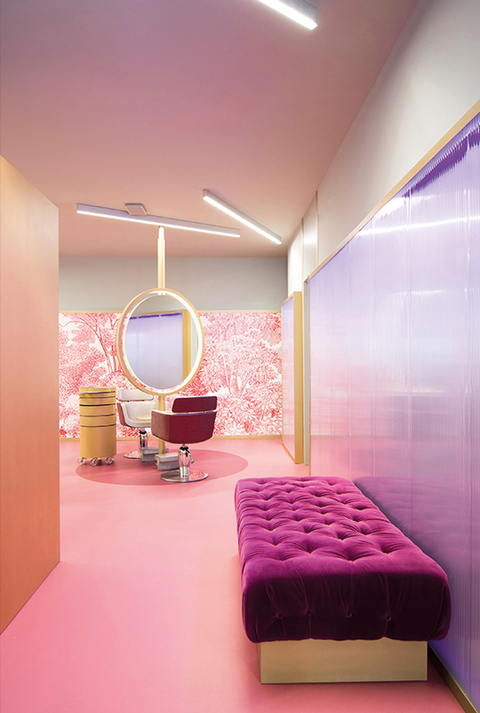 Salon Decoration Italie : Hair salon decoration design rebuilding the concept of