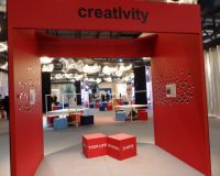 innovative workplace design,trade show booth design inspiration,creative lighting displays trade show,salone del mobile milan design week,creative office space ideas,