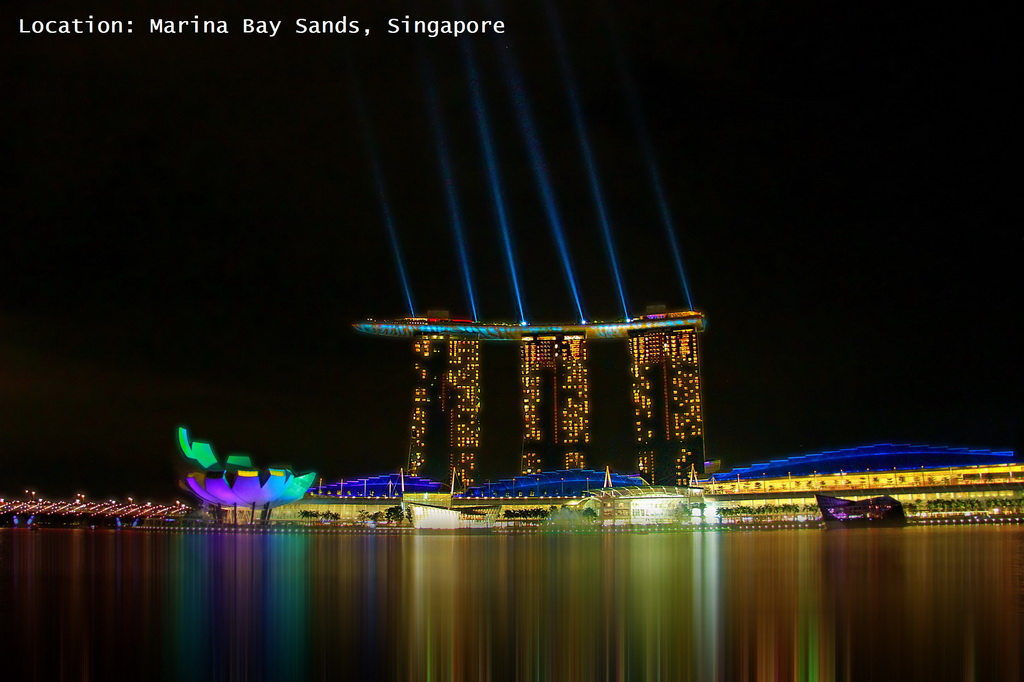 Marina Bay Sands Hotel,Singapore,colorful lighting,colorful lighting ideas,hospitality,hotel design,hotels,lighting,lighting design,lighting designer,lighting design ideas,light tech,ambient light,light features,contemporary lighting design,trendy colors,blue color,orange color,complementary colors,green color,white color,accommodation,travel destinations,travel attractions,travel inspiration,travel ideas,family holidays,family holiday ideas,romantic travel,romantic vacations,