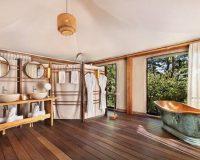 luxury eco lodge bathrooms,double wash basin ideas,hotel bathroom design,bathrooms for couples,freestanding bathtub hotel,