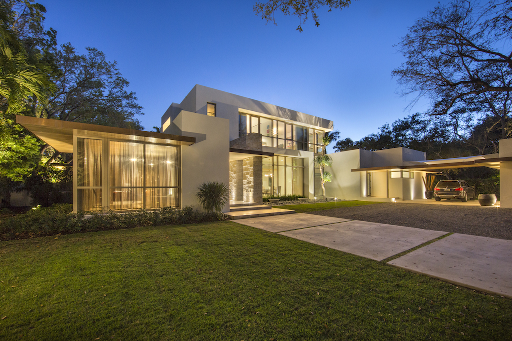 modern front yard landscape design ideas,luxury home coral gables,architecture project florida,modern house design,high end house with large windows,