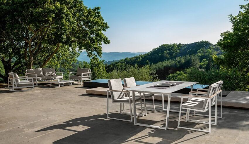 talenti outdoor furniture italy,marco acerbis design,dining and living room on the terrace,designer outdoor dining sets,outdoor patio living room furniture,