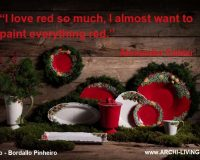 alexander calder quotes,red color quotes by famous artists,red white green holiday decor,designer tableware brands,red and white dish set,