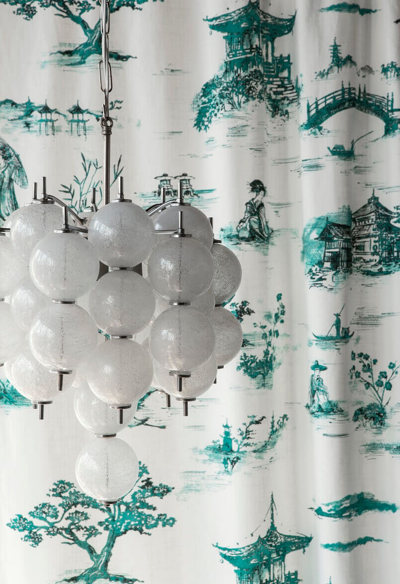 asian style curtain fabric,curtains for bedroom,luxury ceiling lights design,asian inspired decorating ideas,global inspired bedroom,