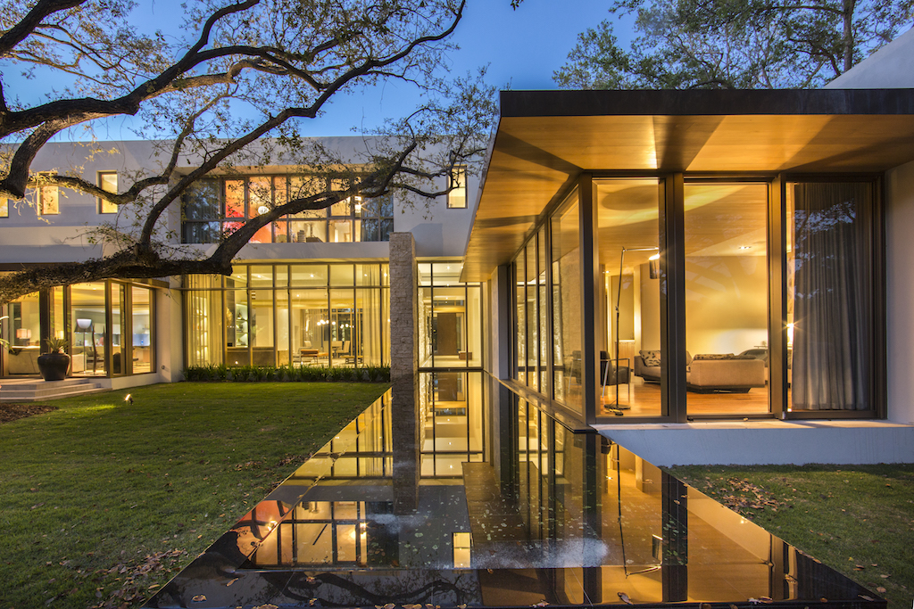 luxury home coral gables,architecture project florida,modern house design,high end house with large windows,night images of luxury houses,