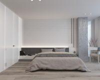 Bedroom, Interior Design, Interior Design Project, Apartment Design, Minimalist Apartment,  Ethno Style, Neutral Color Scheme, Yakusha Design Studio, Victoria Yakusha, Ukrainian Designer, Ukrainian Furniture Brand, Ethno Collection, Faina, Kyiv, Ukraine