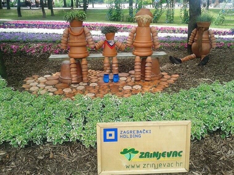 garden art ideas pots,figures made of pots,garden figurines made of pots,floraart garden croatia,garden show europe croatia,