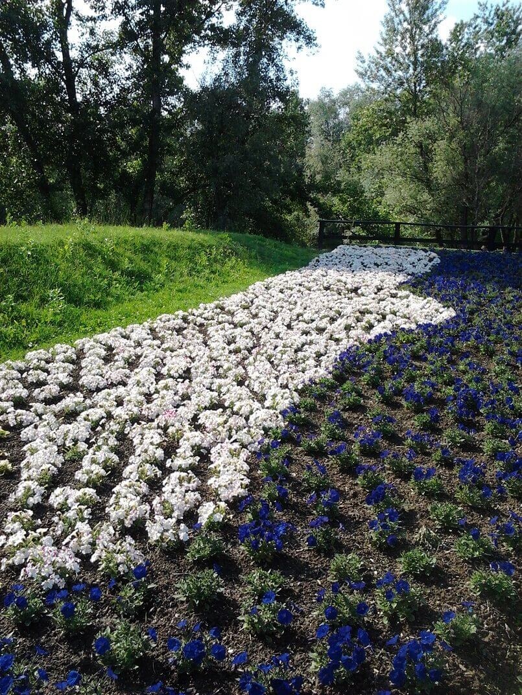 design garden like a river,blue and white flowers images,bundek park and lake,professional garden design inspiration,floraart zagreb,