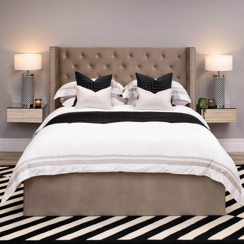 double beds with velvet headboard,contemporary bedroom design ideas,under bed storage beds double,bed design with velvet headboard,bed design with quilted headboard,