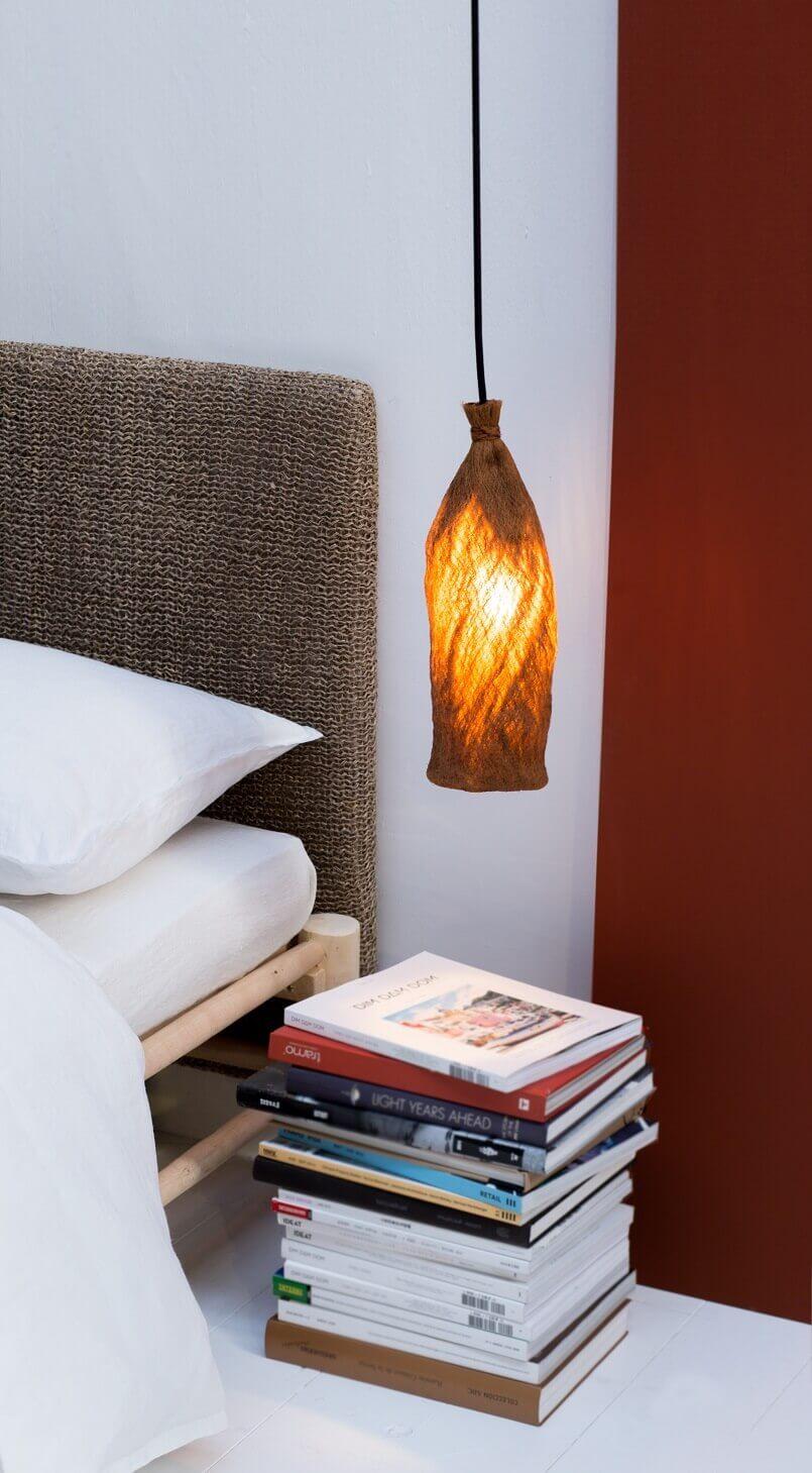eco friendly lighting for homes,organic lighting fixtures,bedside lighting ideas,natural bedroom decor ideas,global inspired bedroom furniture,