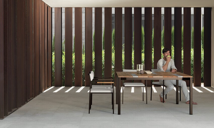wood and stainless steel dining table,ramon esteve furniture,talenti dining table,designer wood table and chairs garden,outdoor dining furniture sets,