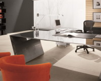 orange chair in office,large metal office desk,high end office furniture brands,how to design a manager office,modern office design images,