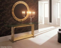 glass console table decor,how to choose the right size lobby mirror,white gold and brown luxury interior design,cattelan italia console table,lobby design in neutral colors,