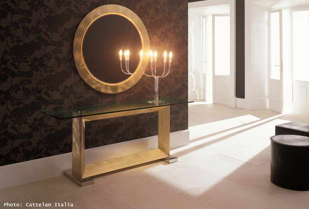 round gold mirror large,high end console furniture,modern candlestick lamps,luxury lobby images,brown color room design,