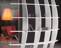 designer shelves for living room,white bookshelves office design,cattelan italia furniture italy,creative home office space ideas,white and red home office,