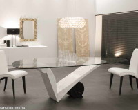 dining room mirror wall decor,cattelan italia glass dining table,square mirror with gold frame,interior decorative wall mirror,white and gold dining room,
