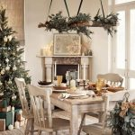 rustic table decorations for Christmas,led candles for decoration,indoor festive Christmas lights,holiday rustic dining room decorating ideas,wooden star holiday decoration ideas,