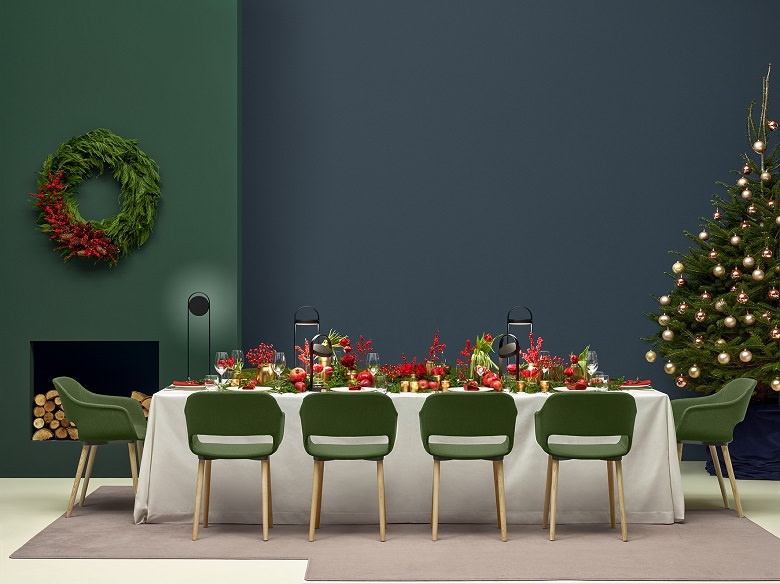 christmas dinner decorations tabletable arrangement ideasnatural christmas table decoration ideasred