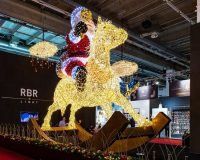 santa claus shopping mall decoration,holiday house lighting ideas,holiday lights installation retail,how to make a light show for Christmas,large retail Christmas decorations,