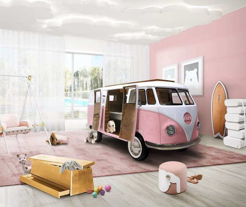 pink auto themed bedroom ideas,pink camper van bed,your favorite color says you psychology,favorite color pink psychology,color pink personality,