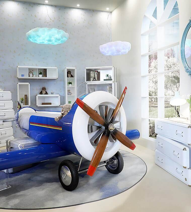 blue airplane bed ideas,disney inspired room decor,airplane inspired furniture,children's room interior images,disney movie inspired bedrooms,
