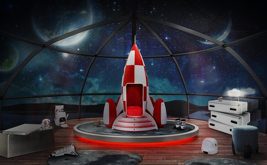 disney themed decorations,make your dreams come true quotes,space rocket inspired furniture,space themed bedroom ideas,children's room interior design ideas,