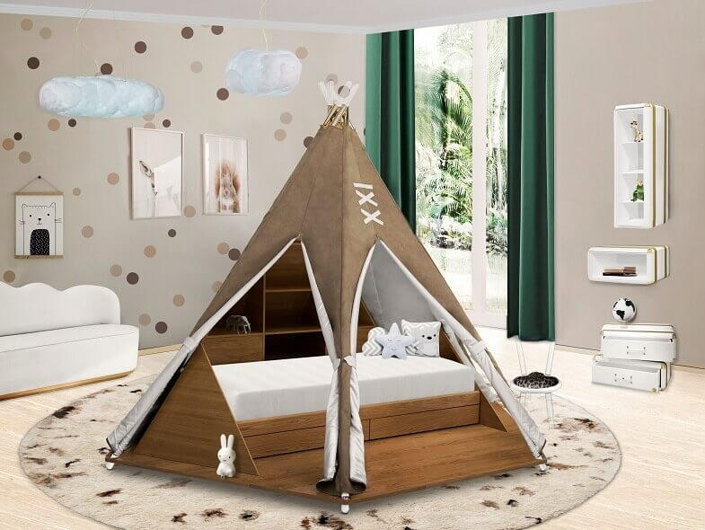 bedroom design inspired by pocahontas,teepee šator za djecu,teepee bedroom theme ideas,pocahontas bedroom decoration,disney themed children's bedrooms,