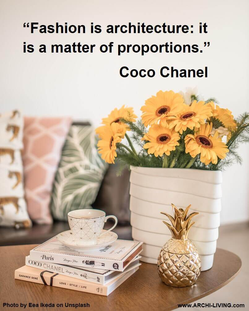 colorful interior design,coco chanel quotes on fashion,coco chanel quotes on architecture,inspirational quotes on fashion,living room decor,