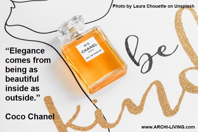 be kind image,coco chanel quotes photos,coco chanel quote on elegance,coco chanel quote beautiful inside outside,chanel no 5 image,