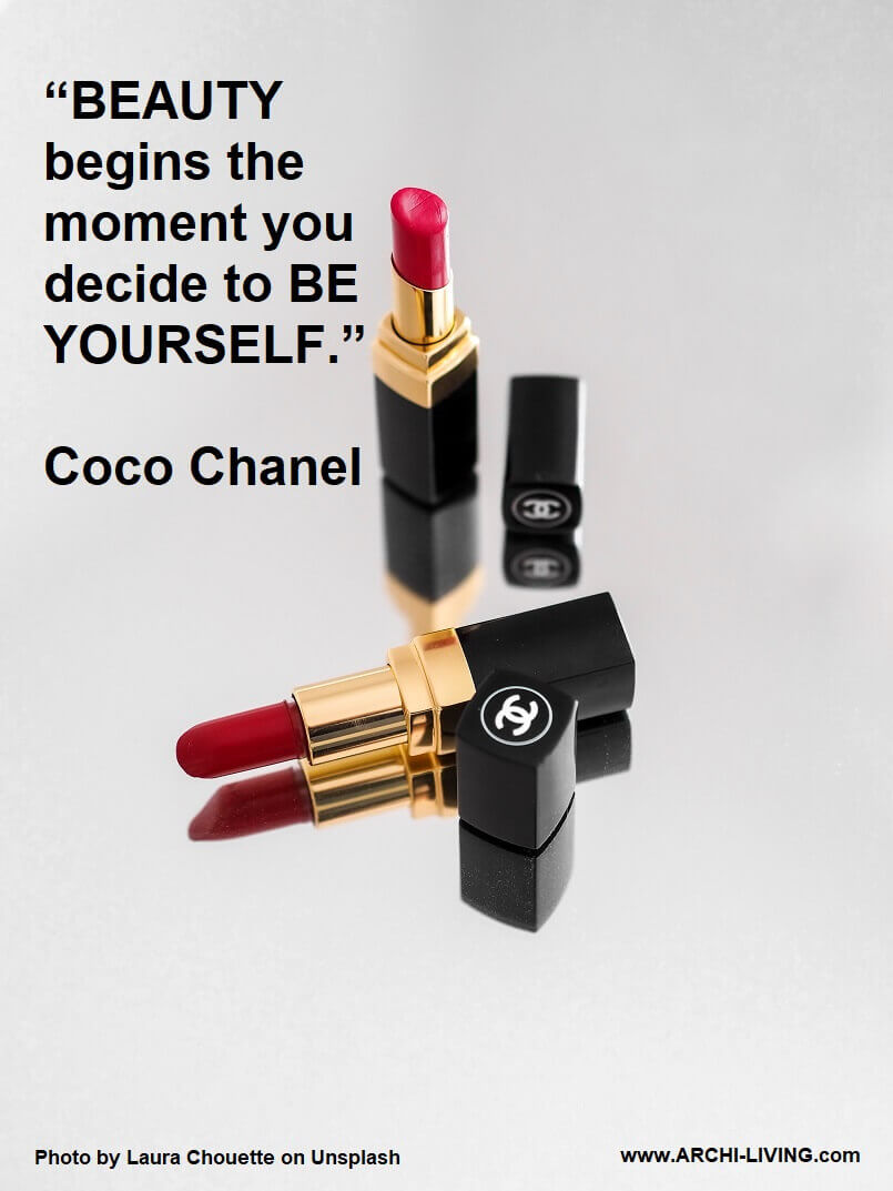 quotes about beauty,coco chanel quote beauty begins,coco chanel quotes be yourself,be yourself quotes in english,chanel red lipstick,
