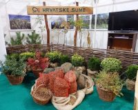 Hrvatske šume,croatian forests ltd,plants for garden pots,stand at a trade show,greenery in home design,