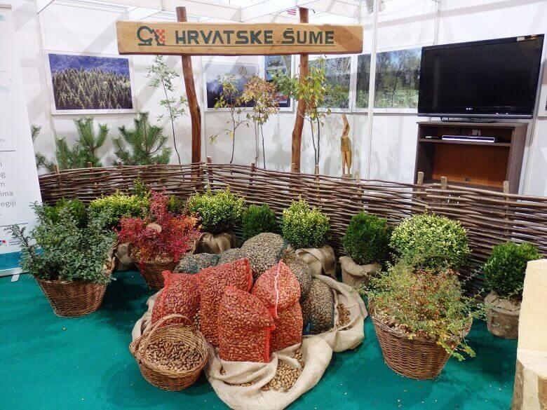 hrvatske šume štand na sajmu ambienta,croatian forests,plants in wicker baskets,plants for balcony,outdoor design ideas,