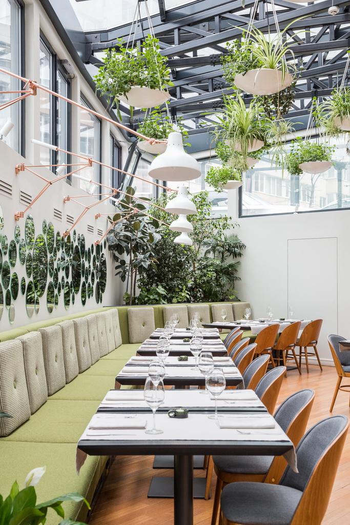 vertical garden wall,vertical garden restaurant,indoor plants dining room,plants on the wall indoor,best hotel restaurants bucharest,