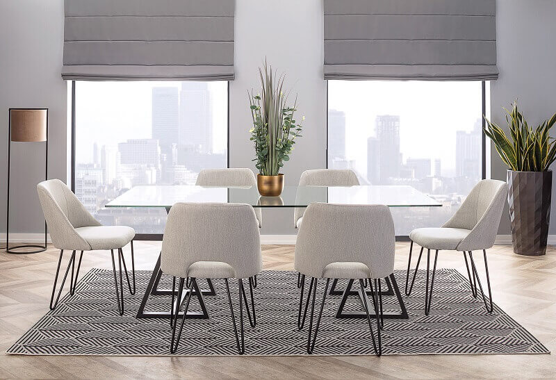 dining room in neutral colors,minimalist dining room ideas,gray and white dining room,decorating ideas for dining room,design trends 2022 home,