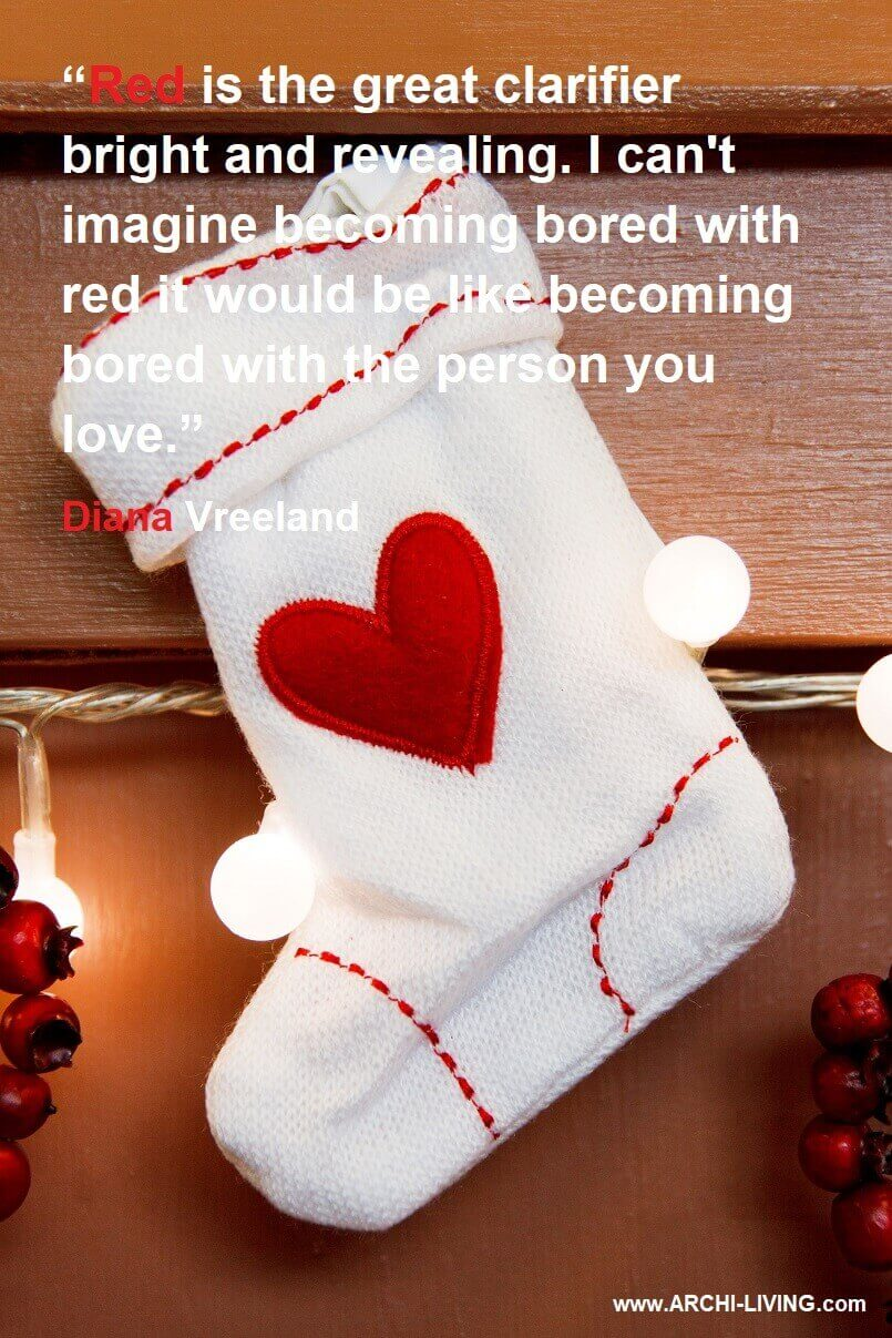 diana vreeland fashion quotes,red color quotes by famous woman,Christmas stocking ideas for boyfriend,holiday decor ideas for home,red and white holiday decor,