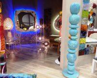 danica maricic interior designer,creative lighting design and decor,colorful mirror wall decor,colored glass and ceramic home decor,artistic interior design ideas,
