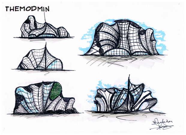 Bedroom Design Sketch