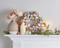 Easter decorations for wreaths,Easter garland for mantle,Easter garlands decorations,Easter fireplace mantel decorations,Easter candle decorating ideas,