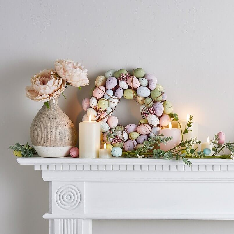 Easter fireplace mantel decorations,Easter candle decorating ideas,Easter decorations for wreaths,Easter garland for mantle,Easter garlands decorations,