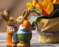 Easter bunnies decor,Easter bunnies and eggs,Easter bunnies and tulips,table decor ideas,bunnies in love images,