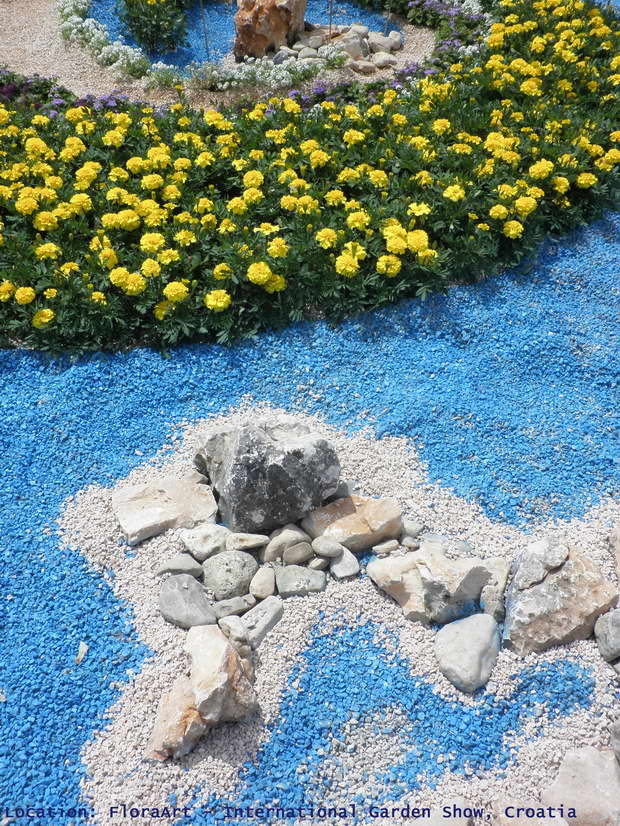 FloraArt, International Garden Show in Zagreb, Croatia, Bundek Park, Landscape Design, Garden Design, Garden Art, Blue Color, Yellow Color, Art Ideas