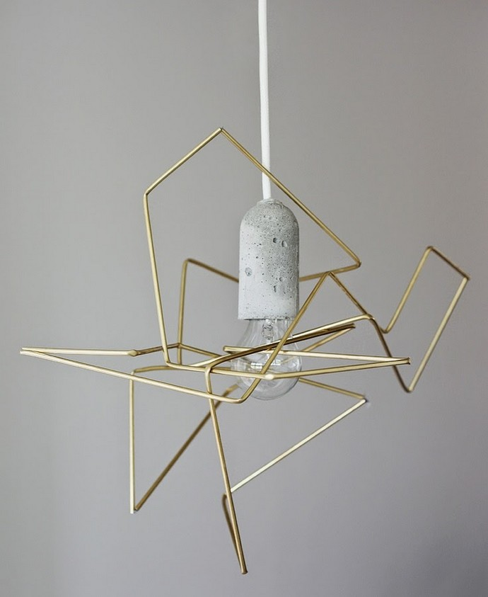 Lighting, Lighting Design, Light, Illumination, Lighting Fixtures, Lamps, Lamp Design, Covet House, Home Decor, Spring Trends, Interior Design Trends, Decorative Trends, Lighting Trends, Contemporary Design, Modern Decor, Industrial Style, Industrial Lighting, Warm Metals, Gold, Brass, Copper, Minimalism, Geometric Lighting