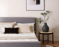 how to decorate japandi style,japandi bedroom design,master bedroom in neutral tones,grey and neutral bedroom,japanese and scandinavian design,